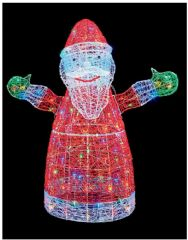 PREMIER LV191614  1.2M Acrylic Santa With 160 Multi Leds